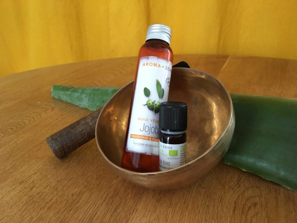 aloe vera HE de tea tree et huile de jojoba